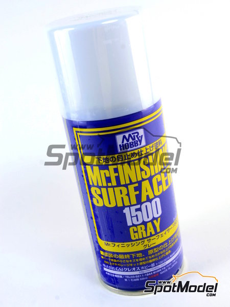 Mr Surfacer 1500 grey - gris - 170ml | Imprimación fabricado por Mr Hobby (ref. B-527) image