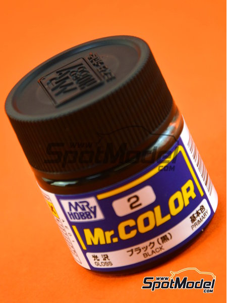 Negro - 1 x 10ml | Mr Color paint manufactured by Mr Hobby (ref.C002) image