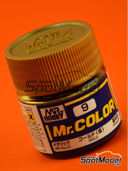 Dorado - Gold | Pintura de la gama Mr Color fabricado por Mr Hobby (ref. C009) image