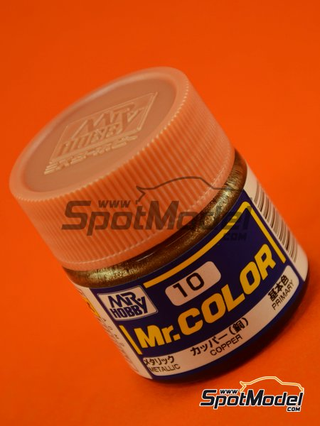 Cobre - 1 x 10ml | Pintura de la gama Mr Color fabricado por Mr Hobby (ref. C010) image