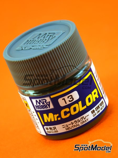 Gris neutro - Neutral gray USAF Army - 1 x 10ml | Pintura de la gama Mr Color fabricado por Mr Hobby (ref. C013) image