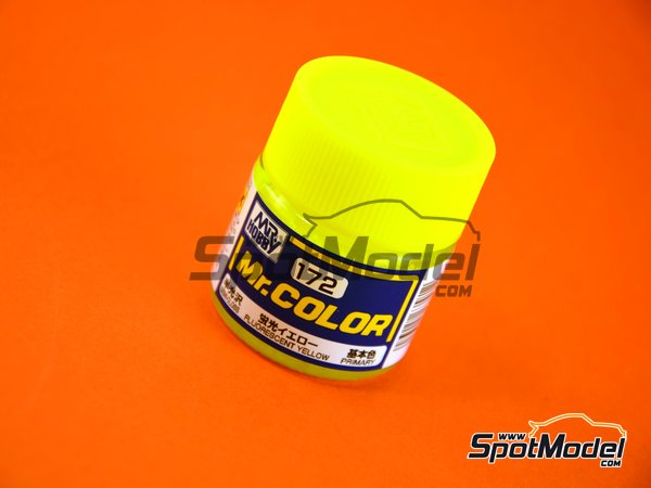 Image 1: Amarillo fluorescente - Fluorescent yellow - 1 x 10ml | Pintura de la gama Mr Color fabricado por Mr Hobby (ref. C172)