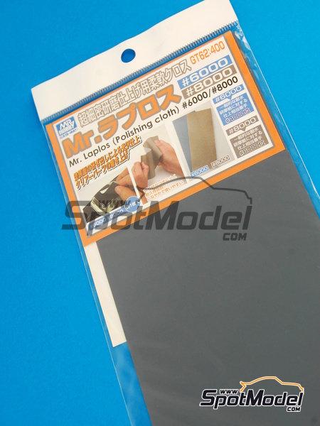 Mr Laplos Polishing Cloth - Papel de lija de grano 6000 y 8000 | Lijas fabricado por Mr Hobby (ref.GT-62) image