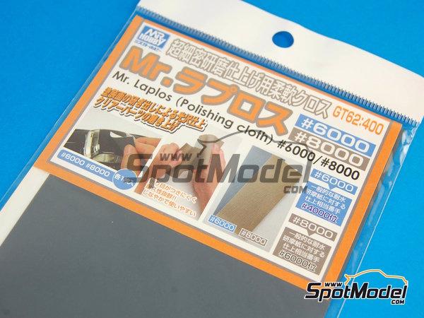Image 1: Mr Laplos Polishing Cloth - Papel de lija de grano 6000 y 8000 | Lijas fabricado por Mr Hobby (ref.GT-62)