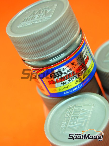 Chrome silver | Mr Metal Color paint manufactured by Mr Hobby (ref.MC-211) image