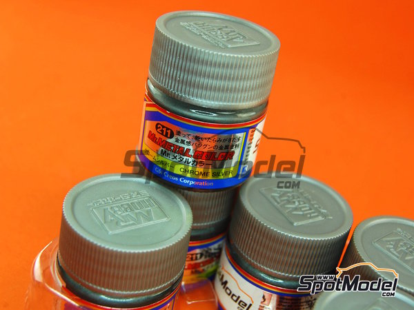Image 1: Chrome silver - 1 x 10ml | Mr Metal Color paint manufactured by Mr Hobby (ref. MC-211)