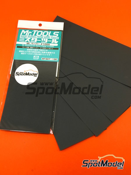 Mr Waterproof sand paper #1000 | Sandpaper manufactured by Mr Hobby (ref. MT-307) image
