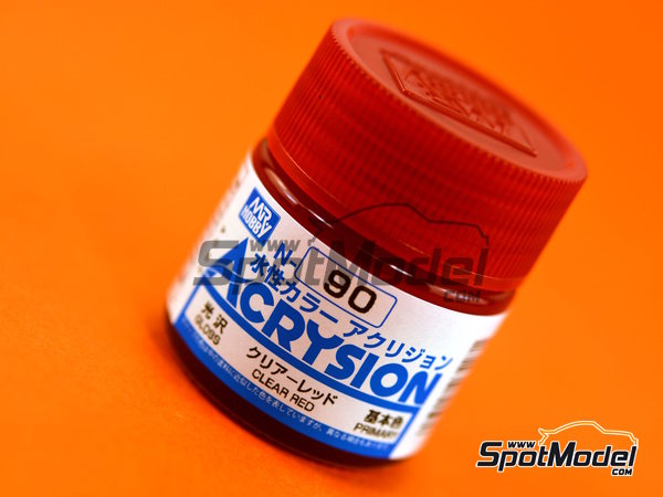 Image 1: Clear red | Acrysion Color paint manufactured by Mr Hobby (ref. N-090)