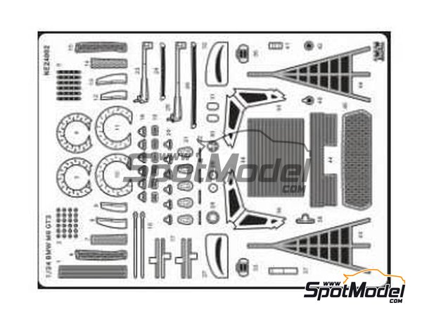Image 1: BMW M6 GT3 | Detail up set in 1/24 scale manufactured by Nunu (ref.NE24002)