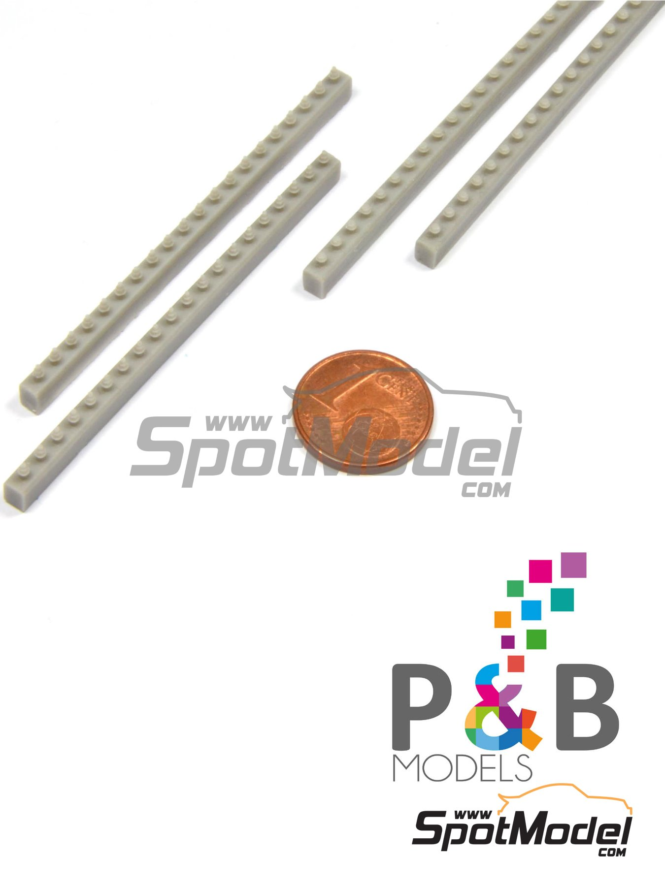 Truck bolts | Detail in 1/24 scale manufactured by P and B Models (ref. PBM002) image