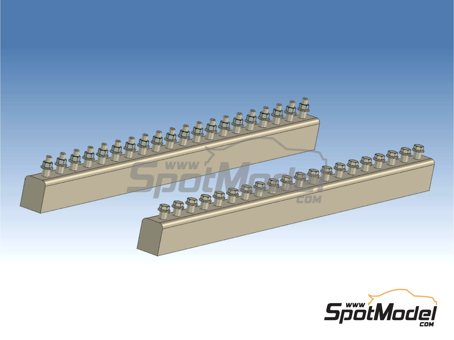 Image 2: Truck bolts | Detail in 1/24 scale manufactured by P and B Models (ref. PBM002)