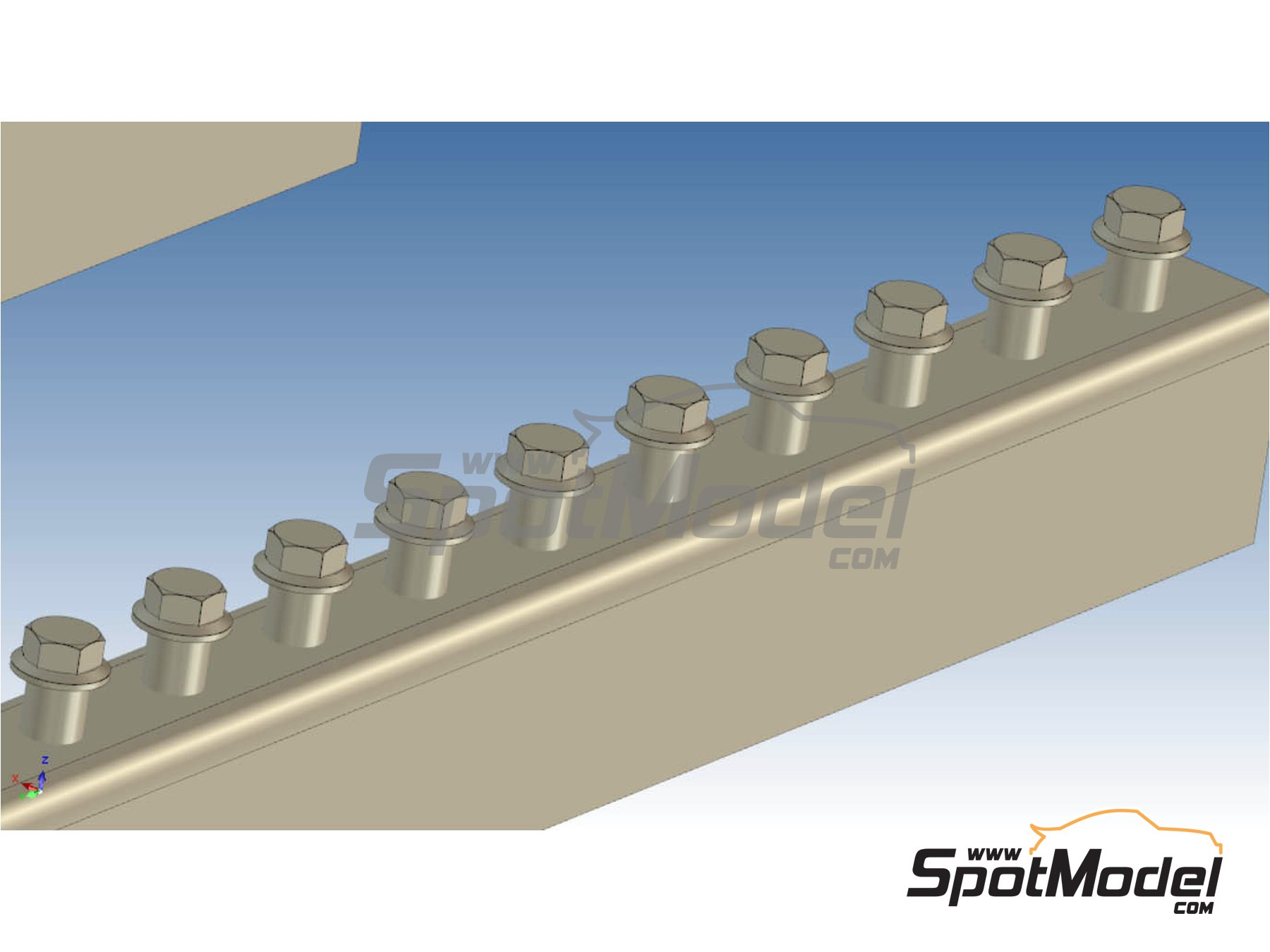 Image 3: Truck bolts | Detail in 1/24 scale manufactured by P and B Models (ref. PBM002)