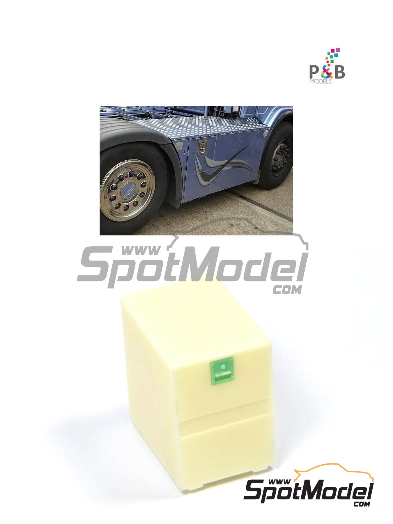 Euro custom truck box small | Detail in 1/24 scale manufactured by P and B Models (ref.PBM013, also 013) image