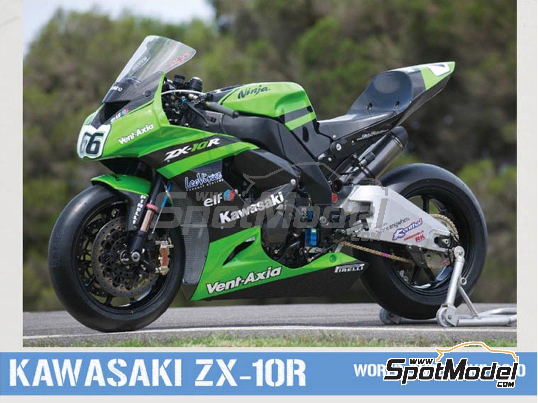 Image 1: Kawasaki ZX-10R - Campeonato del Mundo de Superbikes 2010 | Decoración en escala1/12 fabricado por Pit Wall (ref.12D-001)