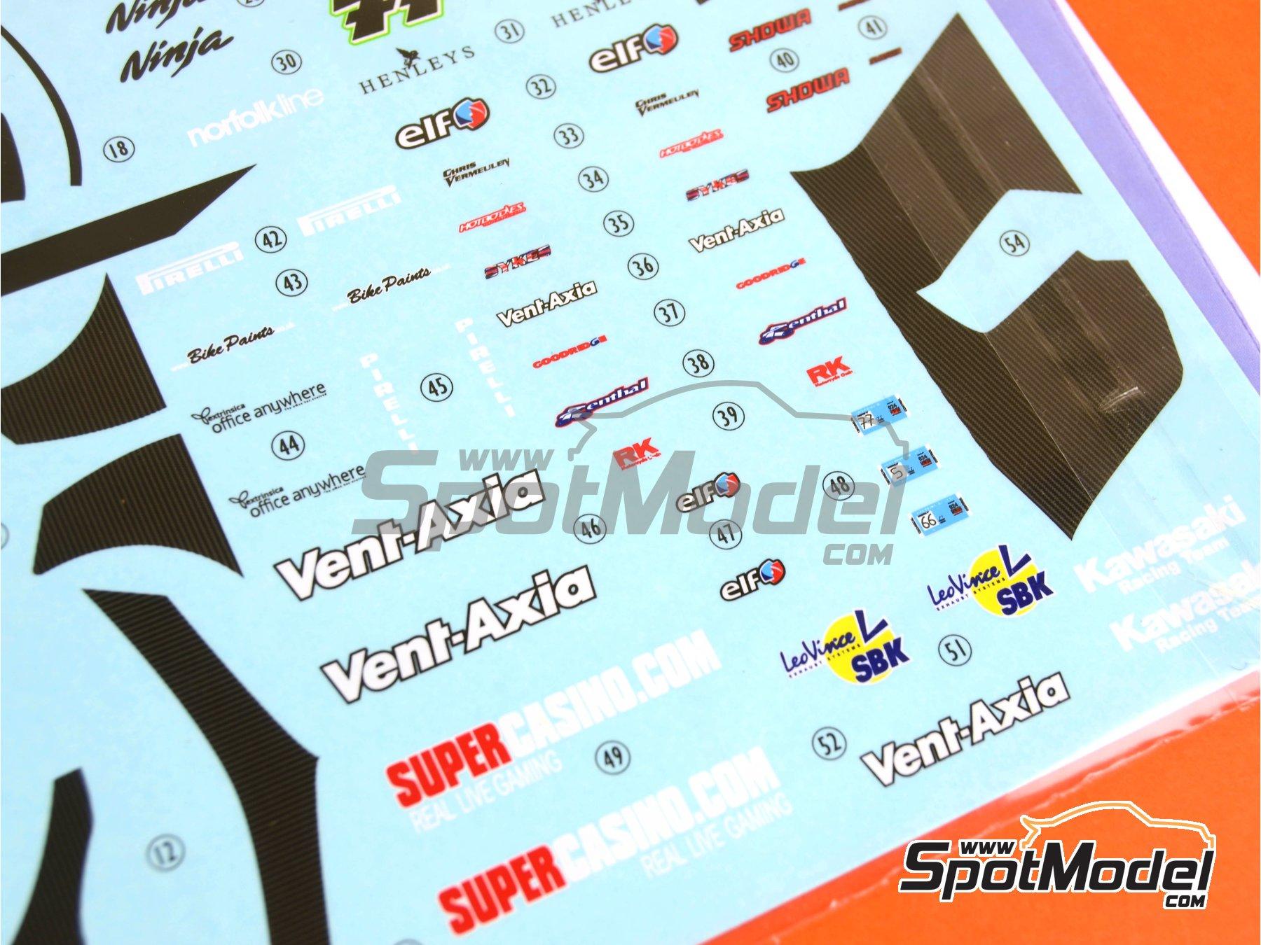 Image 3: Kawasaki ZX-10R - Campeonato del Mundo de Superbikes 2010 | Decoración en escala1/12 fabricado por Pit Wall (ref.12D-001)