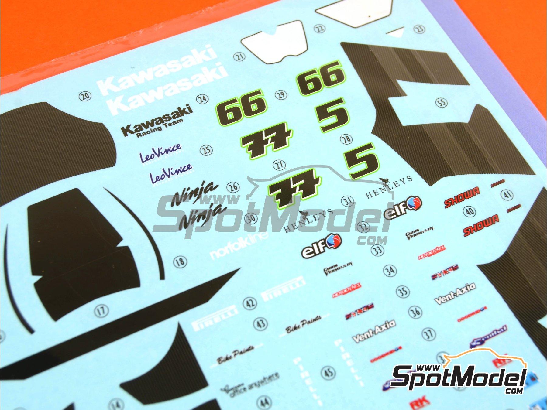 Image 4: Kawasaki ZX-10R - Campeonato del Mundo de Superbikes 2010 | Decoración en escala1/12 fabricado por Pit Wall (ref.12D-001)