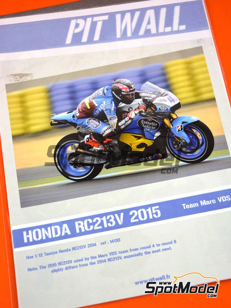 Honda RC213V - World Championship 2015 | Marking / livery in 1/12 scale manufactured by Pit Wall (ref. 12D-002) image