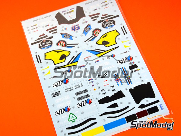 Image 3: Honda RC213V - World Championship 2015 | Marking / livery in 1/12 scale manufactured by Pit Wall (ref. 12D-002)