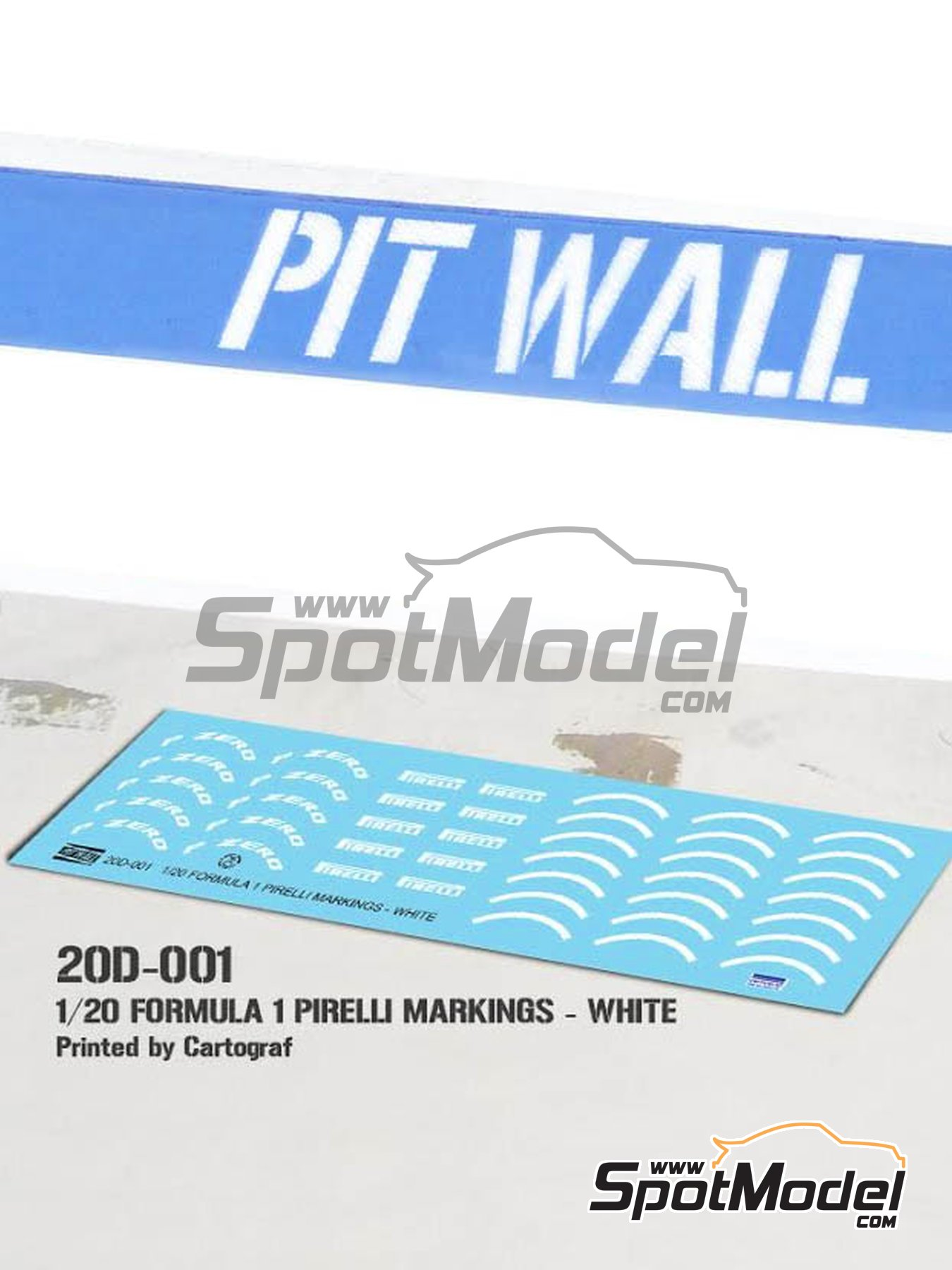 White Pirelli P Zero Formula 1 | Logotypes in 1/20 scale manufactured by Pit Wall (ref. 20D-001) image