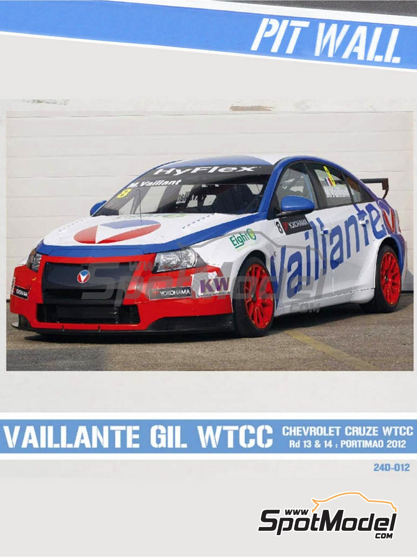 Chevrolet Cruze 1.6T Vaillante Gil - World Touring Car Championship (WTCC) 2012 | Marking / livery in 1/24 scale manufactured by Pit Wall (ref. 24D-012) image