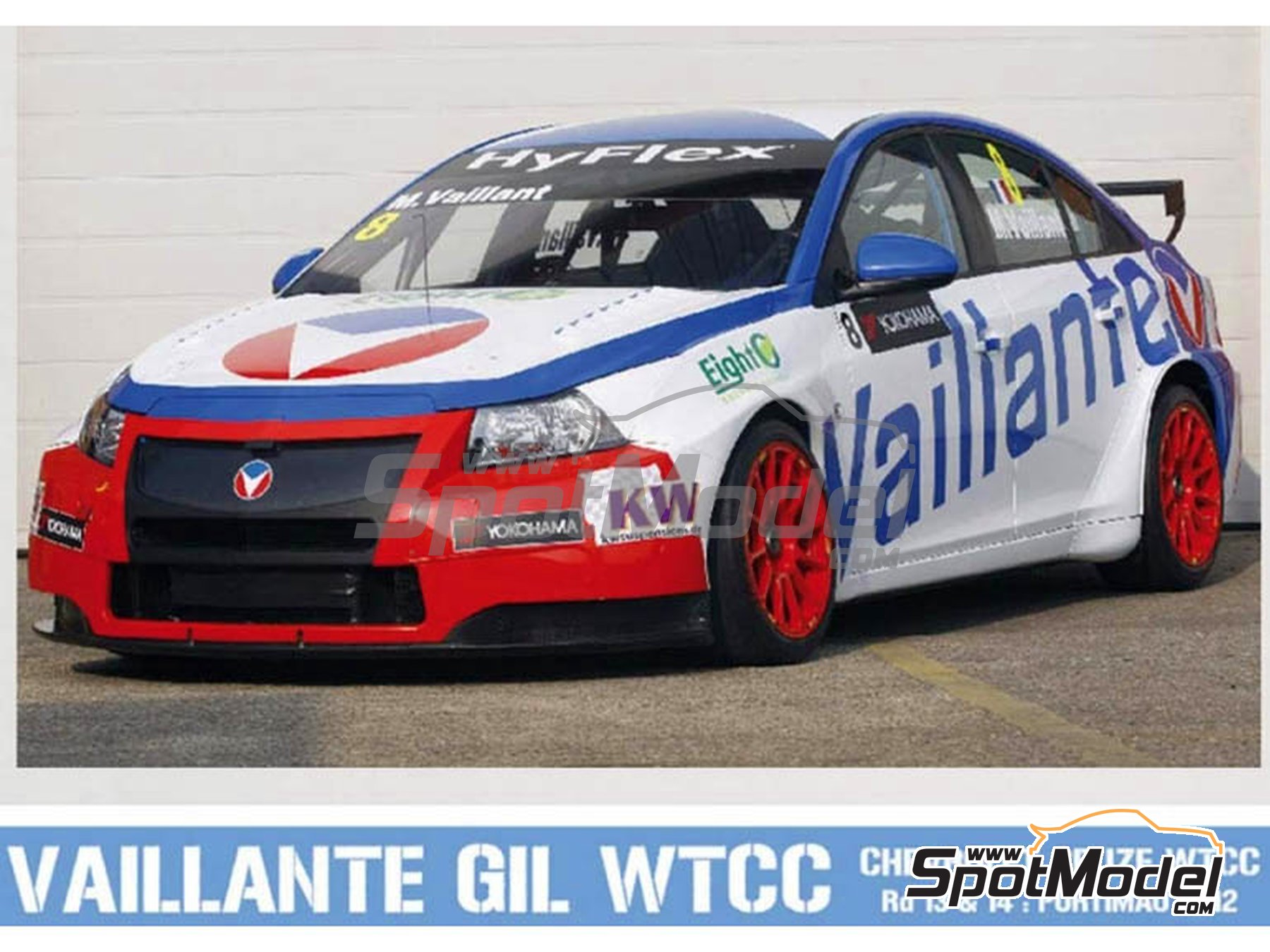 Image 1: Chevrolet Cruze 1.6T Vaillante Gil - World Touring Car Championship (WTCC) 2012 | Marking / livery in 1/24 scale manufactured by Pit Wall (ref. 24D-012)