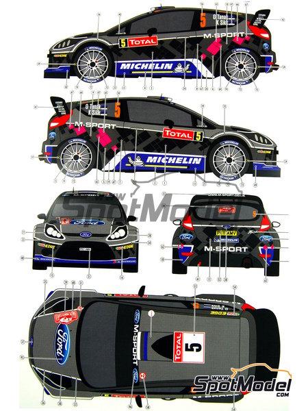 Ford Fiesta WRC Michelin - Rally de Montecarlo - Rallye Automobile de Monte-Carlo 2012   Decoración en escala1/24 fabricado por Pit Wall (ref.D24-002) image