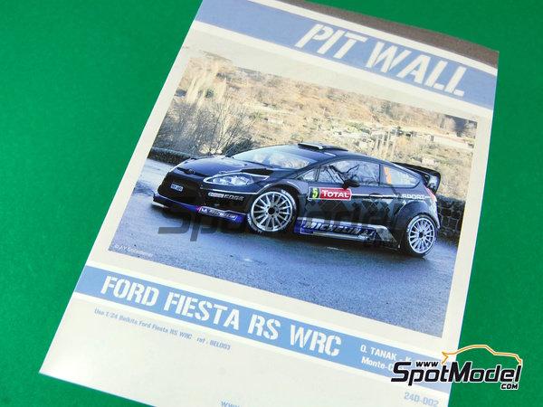 Image 1: Ford Fiesta WRC Michelin - Rally de Montecarlo - Rallye Automobile de Monte-Carlo 2012   Decoración en escala1/24 fabricado por Pit Wall (ref.D24-002)