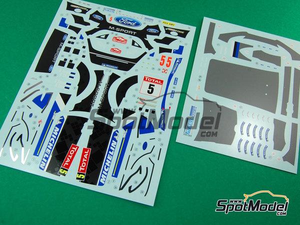 Image 2: Ford Fiesta WRC Michelin - Rally de Montecarlo - Rallye Automobile de Monte-Carlo 2012   Decoración en escala1/24 fabricado por Pit Wall (ref.D24-002)