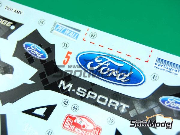 Image 7: Ford Fiesta WRC Michelin - Rally de Montecarlo - Rallye Automobile de Monte-Carlo 2012   Decoración en escala1/24 fabricado por Pit Wall (ref.D24-002)