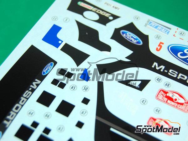 Image 9: Ford Fiesta WRC Michelin - Rally de Montecarlo 2012 | Decoración en escala1/24 fabricado por Pit Wall (ref.D24-002)