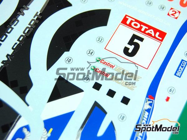 Image 11: Ford Fiesta WRC Michelin - Rally de Montecarlo 2012 | Decoración en escala1/24 fabricado por Pit Wall (ref.D24-002)