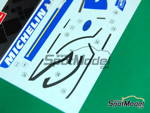 Image 12: Ford Fiesta WRC Michelin - Rally de Montecarlo - Rallye Automobile de Monte-Carlo 2012   Decoración en escala1/24 fabricado por Pit Wall (ref.D24-002)
