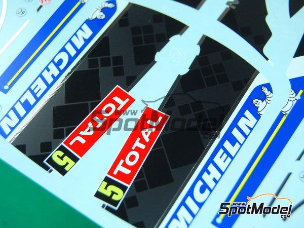 Image 13: Ford Fiesta WRC Michelin - Rally de Montecarlo 2012 | Decoración en escala1/24 fabricado por Pit Wall (ref.D24-002)