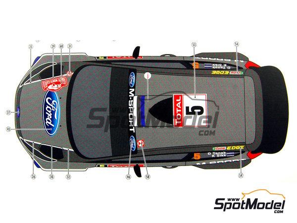 Image 16: Ford Fiesta WRC Michelin - Rally de Montecarlo 2012 | Decoración en escala1/24 fabricado por Pit Wall (ref.D24-002)