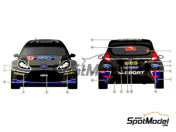 Image 17: Ford Fiesta WRC Michelin - Rally de Montecarlo - Rallye Automobile de Monte-Carlo 2012   Decoración en escala1/24 fabricado por Pit Wall (ref.D24-002)