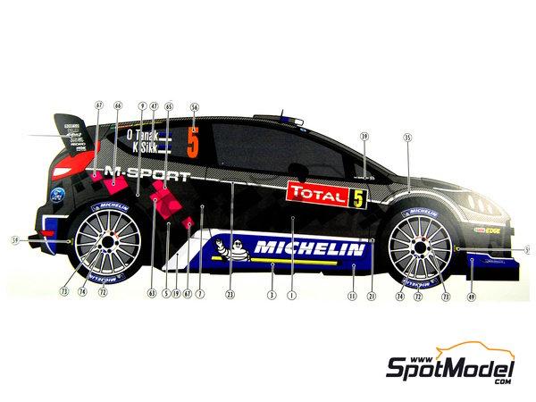 Image 18: Ford Fiesta WRC Michelin - Rally de Montecarlo 2012 | Decoración en escala1/24 fabricado por Pit Wall (ref.D24-002)