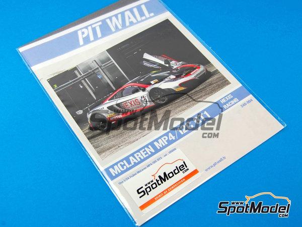 Image 7: McLaren MP4-12C GT3 Hexis - Campeonato del Mundo FIA de GT 2012   Decoración en escala1/24 fabricado por Pit Wall (ref.D24-004)