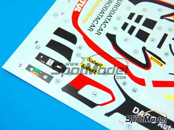 Image 10: McLaren MP4-12C GT3 Hexis - Campeonato del Mundo FIA de GT 2012   Decoración en escala1/24 fabricado por Pit Wall (ref.D24-004)