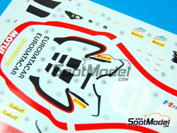 Image 11: McLaren MP4-12C GT3 Hexis - Campeonato del Mundo FIA de GT 2012   Decoración en escala1/24 fabricado por Pit Wall (ref.D24-004)
