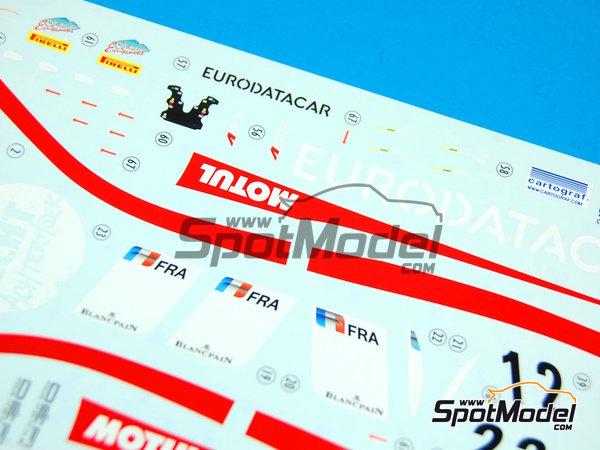 Image 12: McLaren MP4-12C GT3 Hexis - Campeonato del Mundo FIA de GT 2012   Decoración en escala1/24 fabricado por Pit Wall (ref.D24-004)