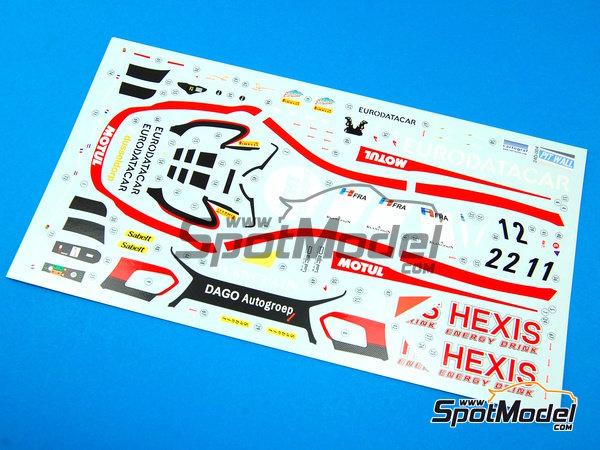 Image 14: McLaren MP4-12C GT3 Hexis - Campeonato del Mundo FIA de GT 2012   Decoración en escala1/24 fabricado por Pit Wall (ref.D24-004)