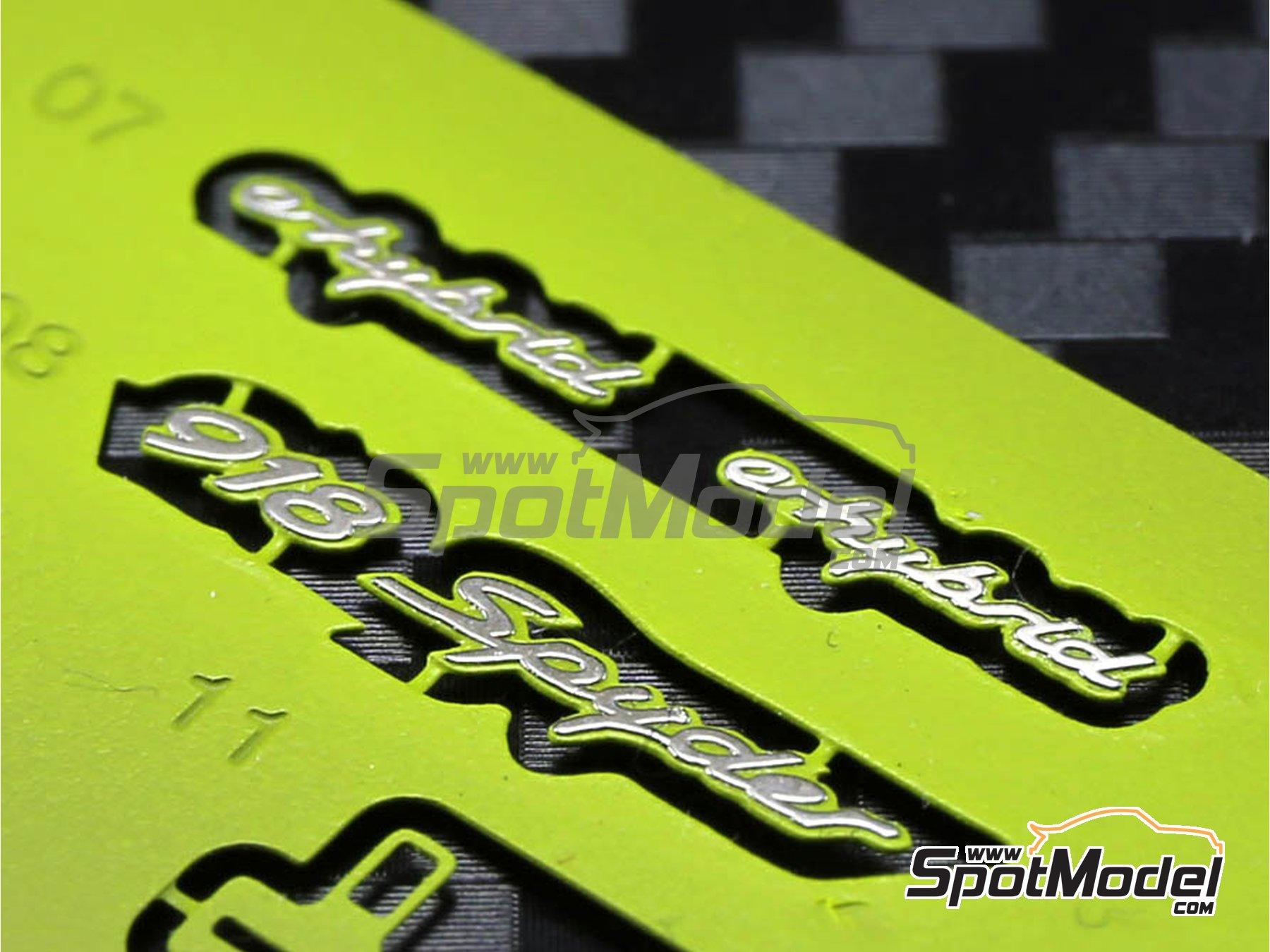 Image 1: Porsche 918 Spyder | Detail up set in 1/24 scale manufactured by Plamoz (ref.PL-E24001)