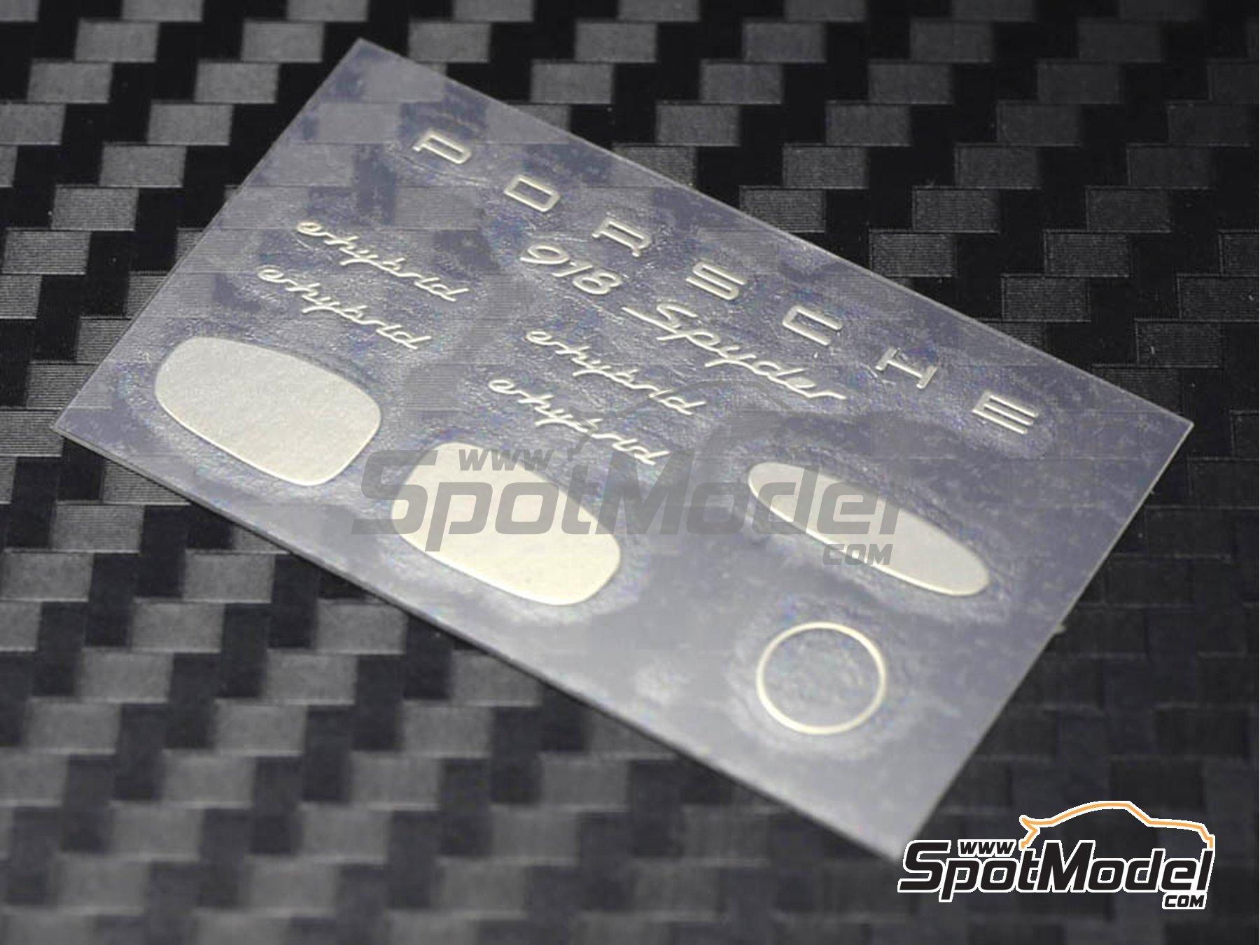 Image 2: Porsche 918 Spyder | Detail up set in 1/24 scale manufactured by Plamoz (ref.PL-E24001)