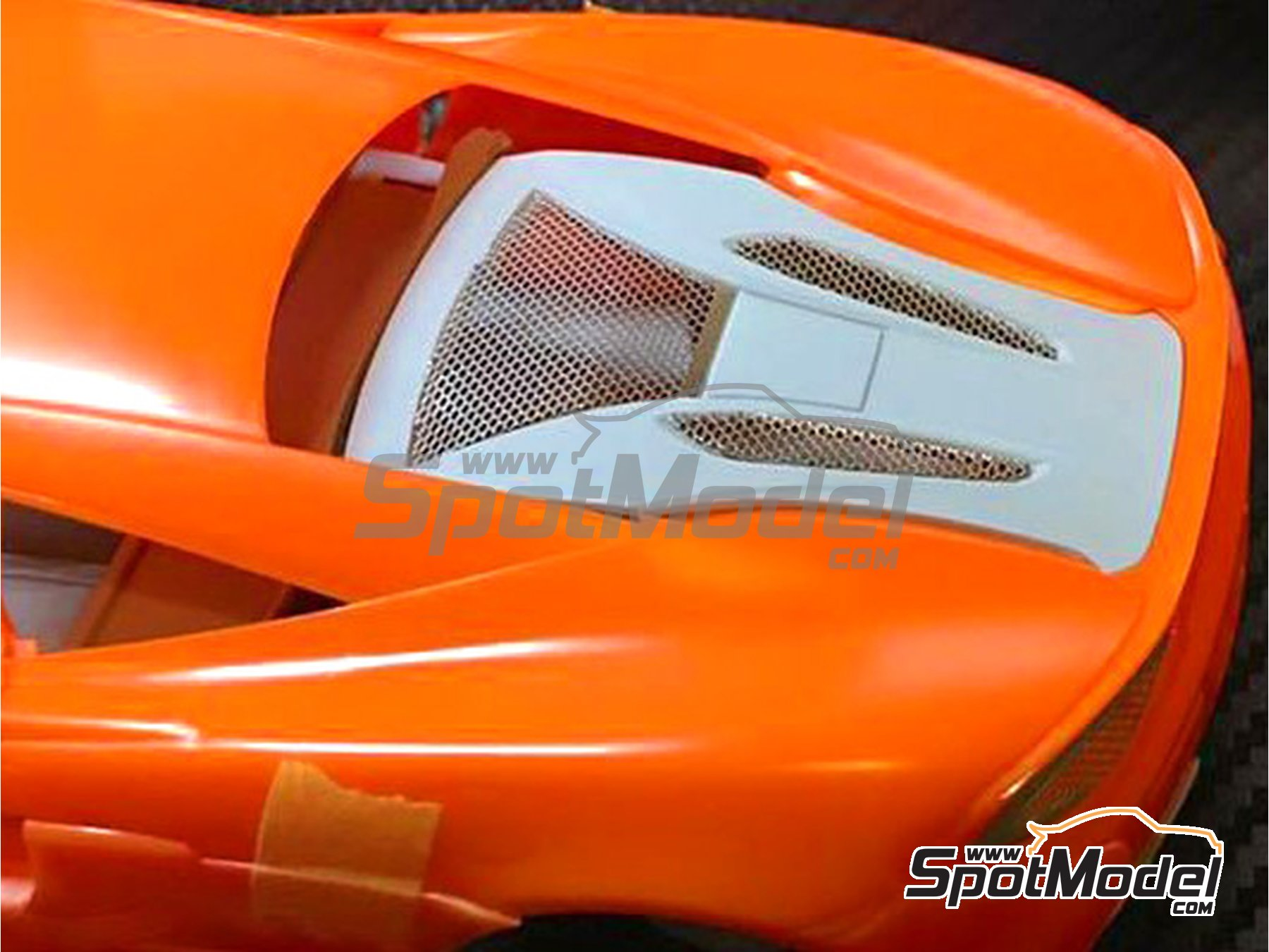 Image 1: McLaren 570S | Detail up set in 1/24 scale manufactured by Plamoz (ref.PL-E24005)