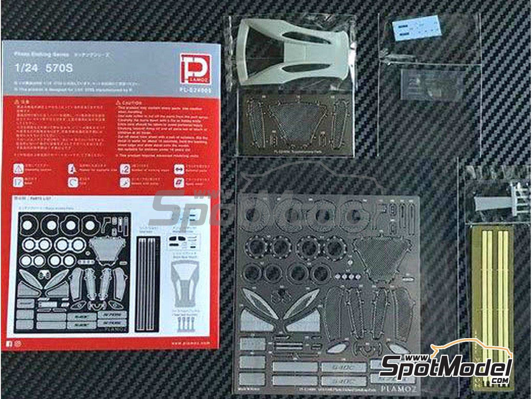 Image 3: McLaren 570S | Set de mejora y detallado en escala1/24 fabricado por Plamoz (ref.PL-E24005)