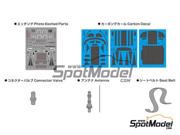 Image 2: BMW M6 GT3 | Detail up set in 1/24 scale manufactured by Platz (ref.NE24002)