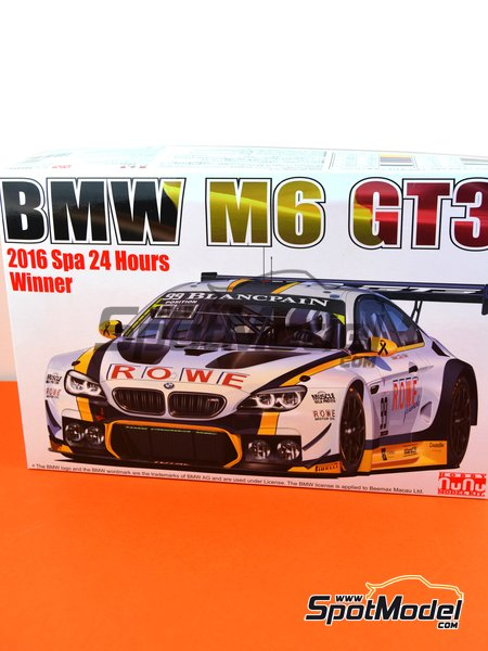 BMW M6 GT3 - 24 Hours SPA Francorchamps 2016 | Model car kit in 1/24 scale manufactured by Platz (ref. PN24001) image
