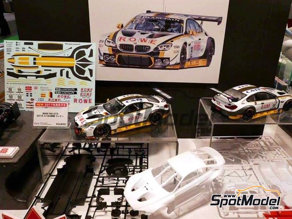 Image 2: BMW M6 GT3 - 24 Hours SPA Francorchamps 2016 | Model car kit in 1/24 scale manufactured by Platz (ref. PN24001)