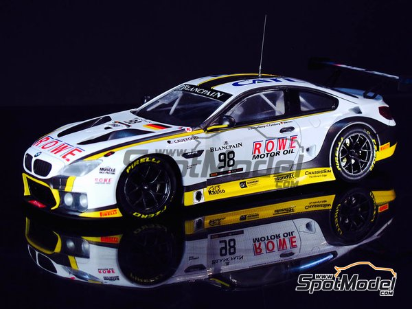 Image 5: BMW M6 GT3 - 24 Hours SPA Francorchamps 2016 | Model car kit in 1/24 scale manufactured by Platz (ref. PN24001)