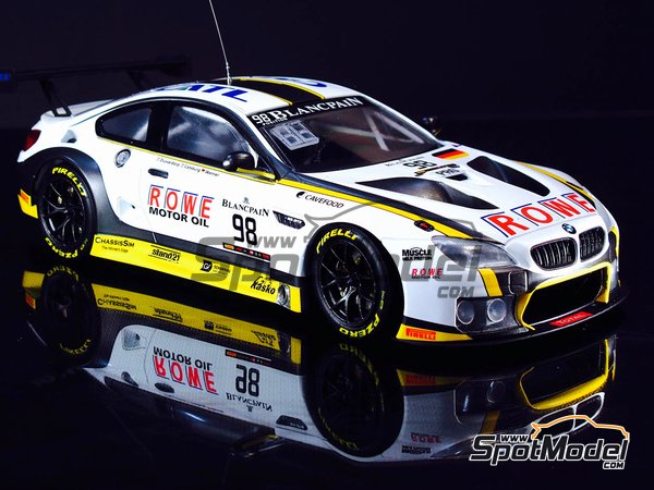 Image 6: BMW M6 GT3 - 24 Hours SPA Francorchamps 2016 | Model car kit in 1/24 scale manufactured by Platz (ref. PN24001)